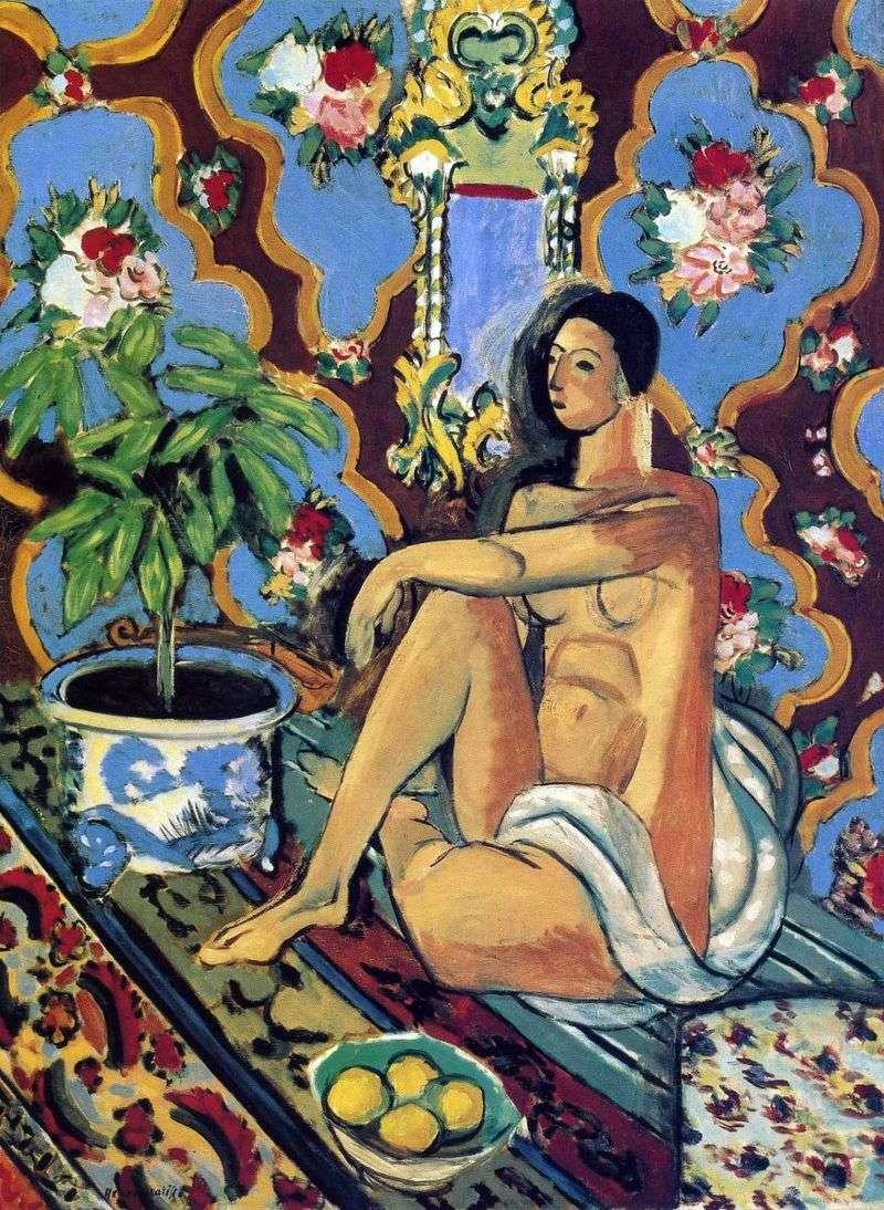 Dekoracyjna figura na ozdobnym tle   Henri Matisse