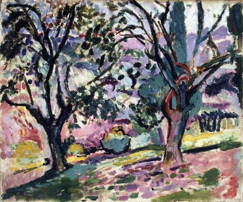 Drzewa oliwne w rozkwicie   Henri Matisse