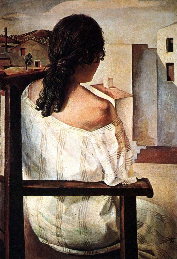 Dziewczyna siedząca z powrotem   Salvador Dali