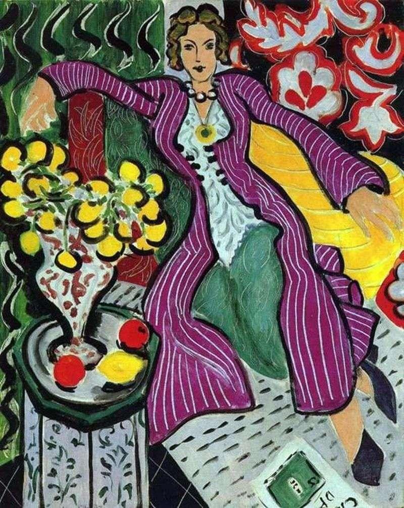 Kobieta w fioletowym płaszczu   Henri Matisse