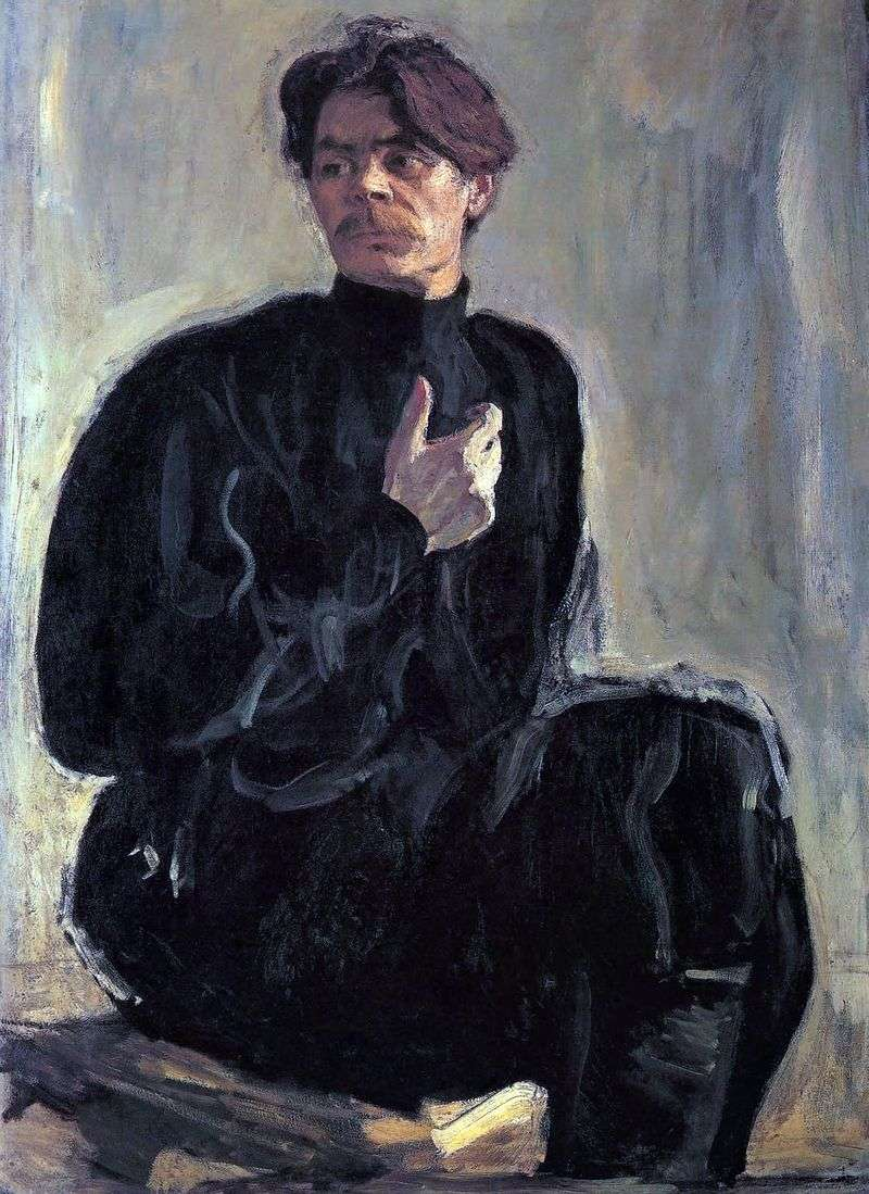 Portret A. M. Gorkiego   Valentin Serov