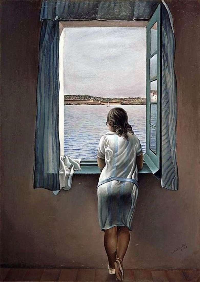 Dziewczyna przy oknie   Salvador Dali