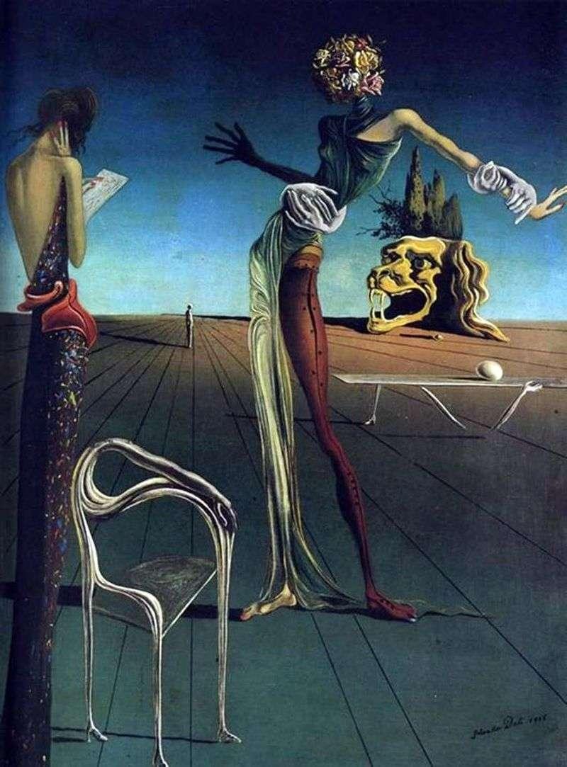 Kobieta z głową róż   Salvador Dali
