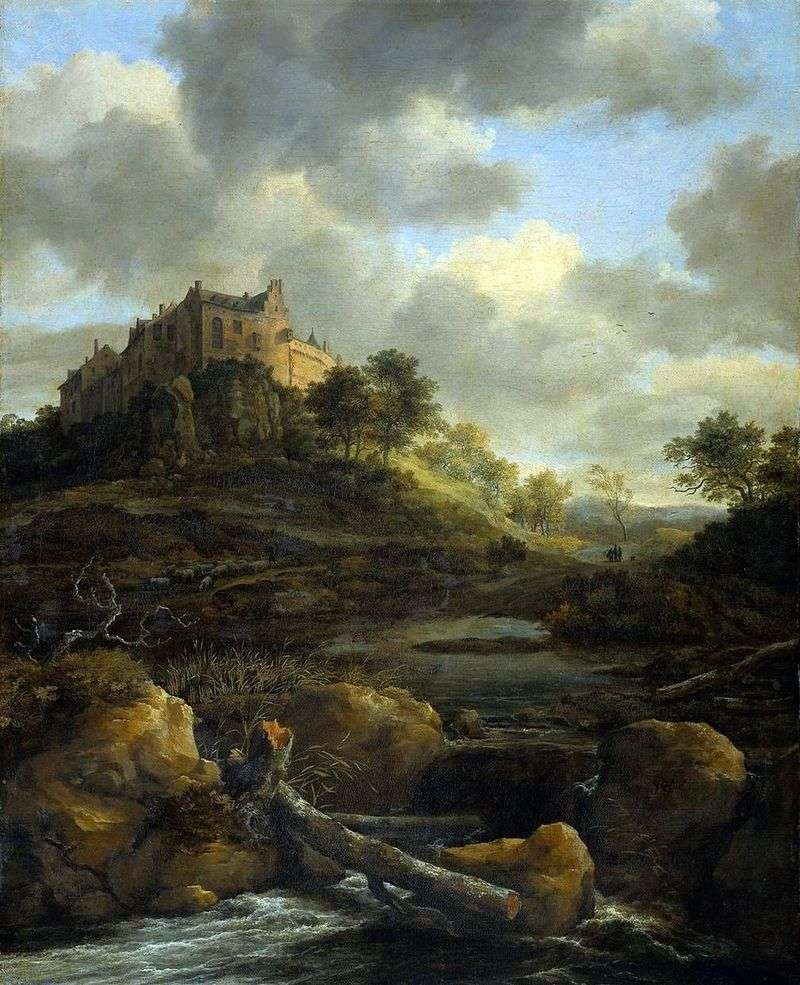 Zamek Bentheim   Jacob van Ruisdal