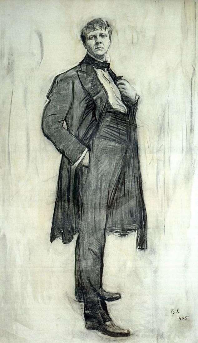 Portret artysty F. I. Chaliapin   Valentin Serov