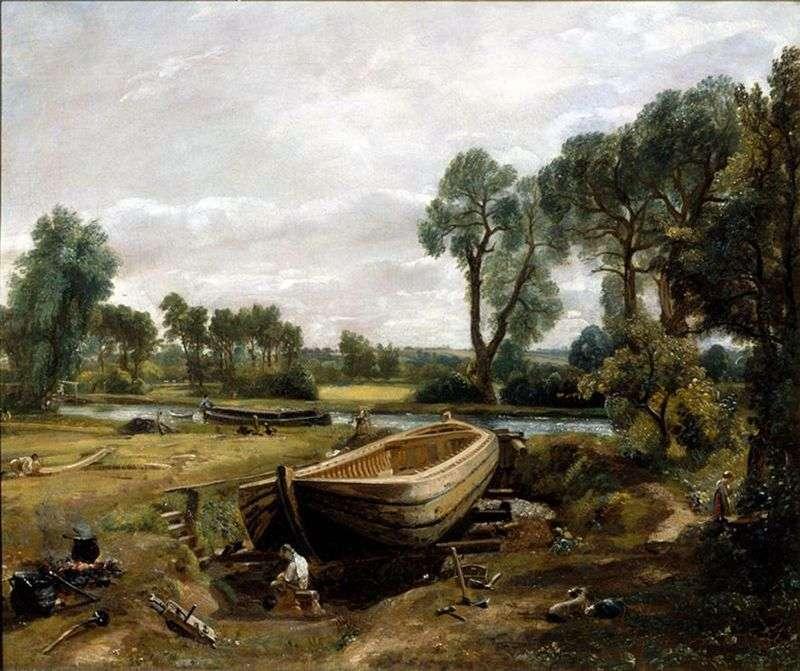 Konstrukcja barki   John Constable