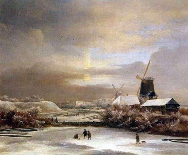 Zimowe sceny   Jacob van Ruysdal