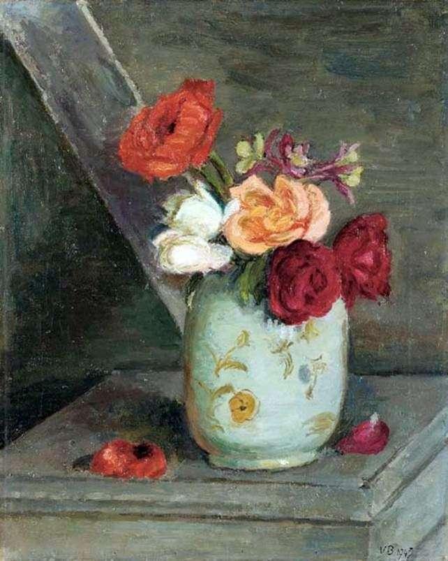 Róże w chińskim wazonie   Vanessa Bell
