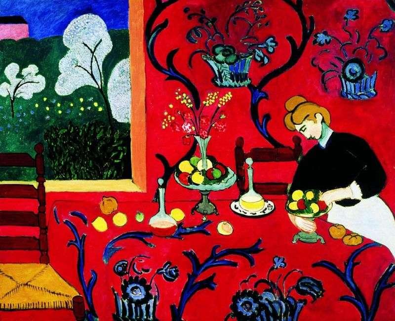 Red Harmony (Deser)   Henri Matisse