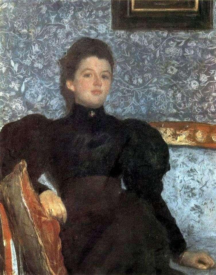 Portret V. V Musiny Pushkina   Valentin Serov