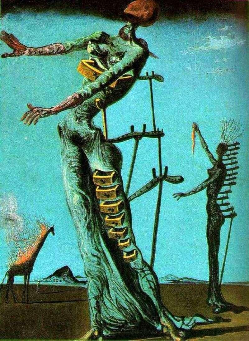 Żyrafa w ogniu   Salvador Dali