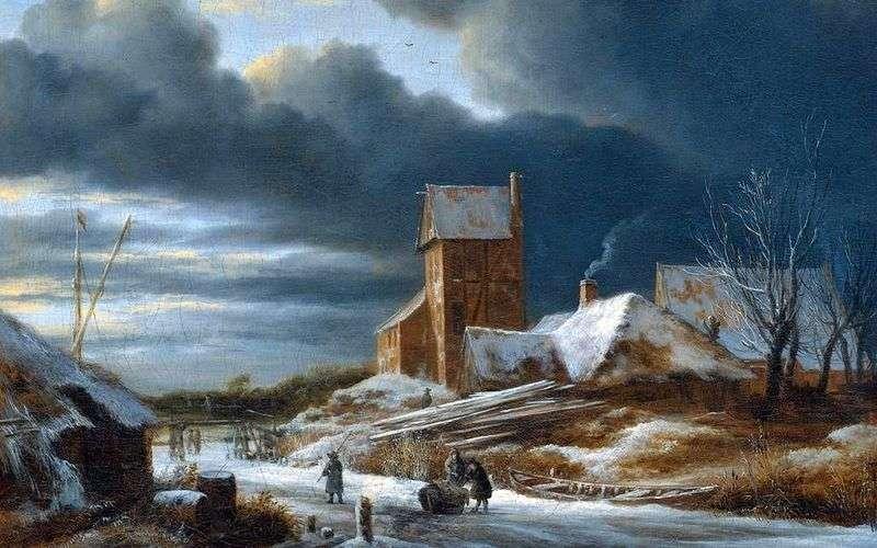 Zimowy krajobraz   Jacob van Ruysdal