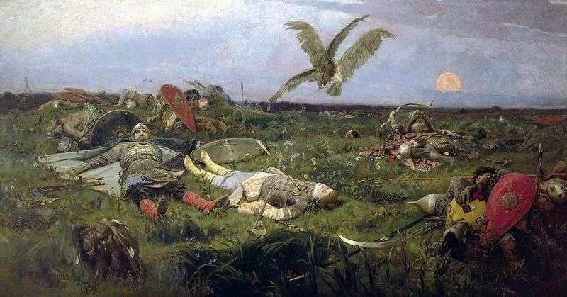 Po rzezi Igora Svyatoslavicha z Połowcami   Wiktorem Vasnetsov