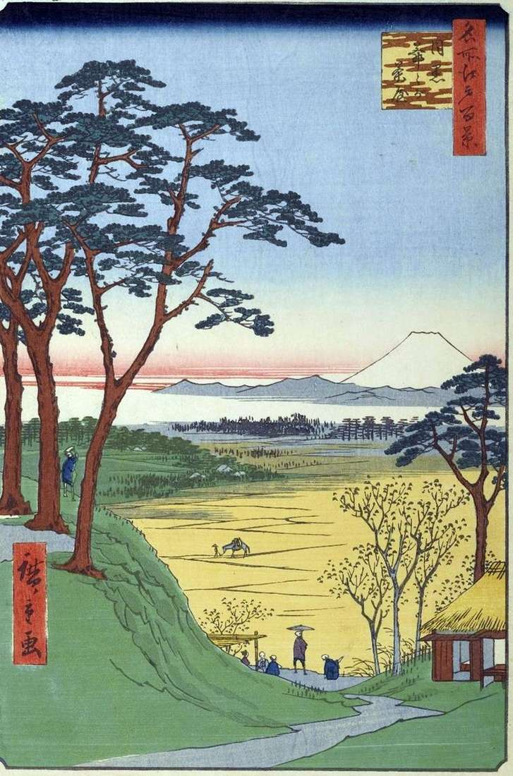 Herbata Jitzygatyaya (Sklep dziadka) w Meguro   Utagawa Hiroshige