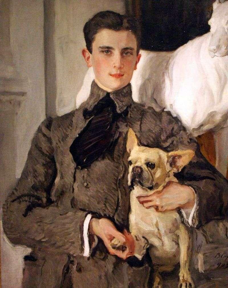 Portret hrabiego F. F. Sumarokova Elstona, następnie księcia Jusupowa, z psem   Valentinem Serowem