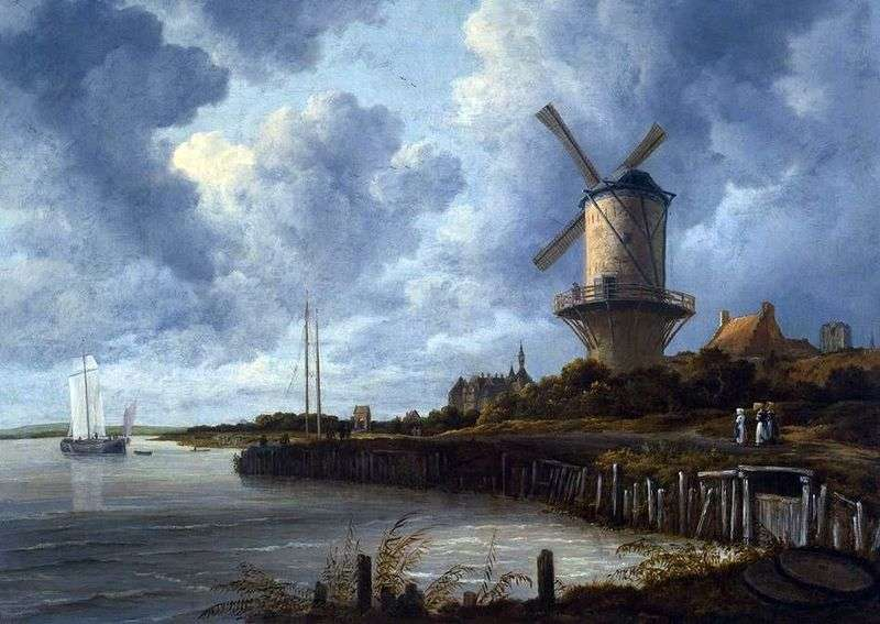 Wake Mill   Jacob van Ruisdal