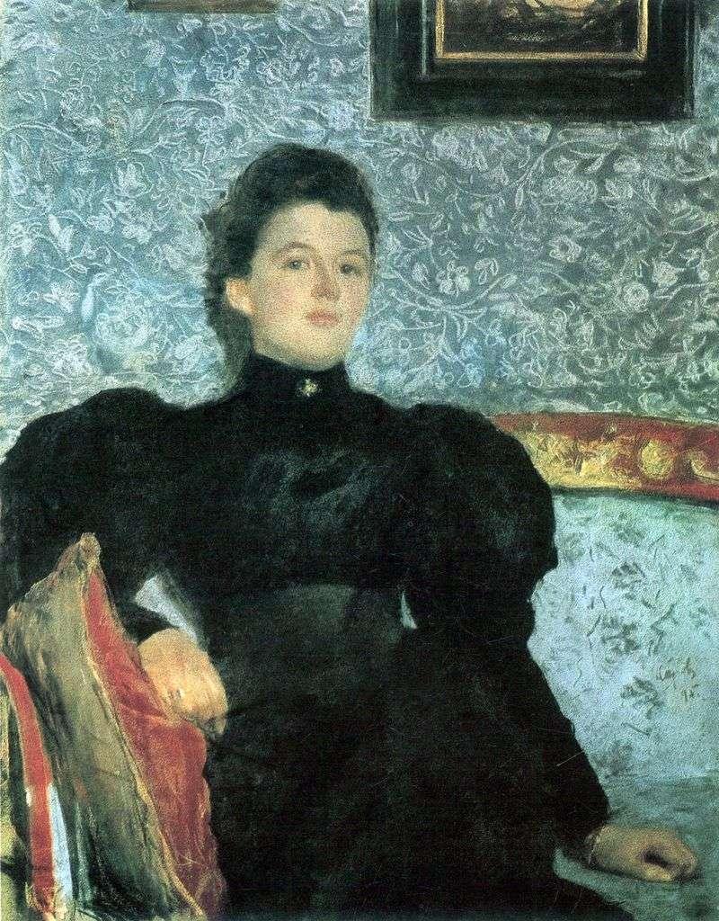 Portret hrabiny V. V. Musina Pushkina   Valentin Serov