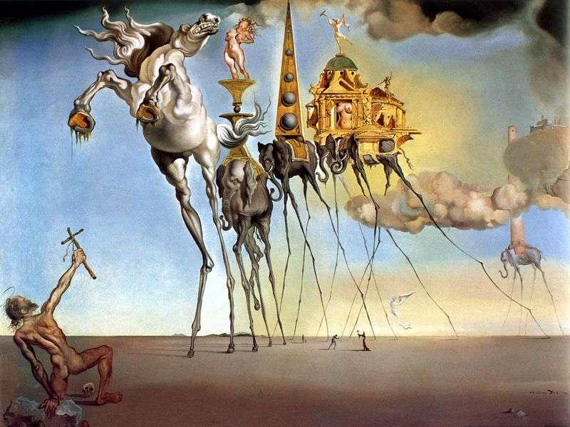 Kuszenie św. Antoniego   Salvadora Dali