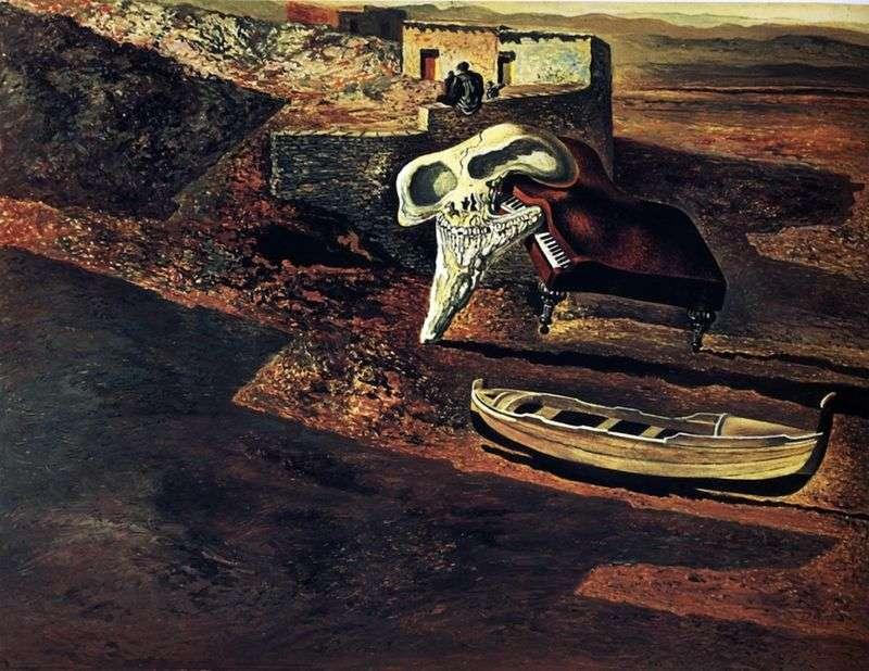 Wyparowana czaszka zasymilowała fortepian na kodzie   Salvadora Dali