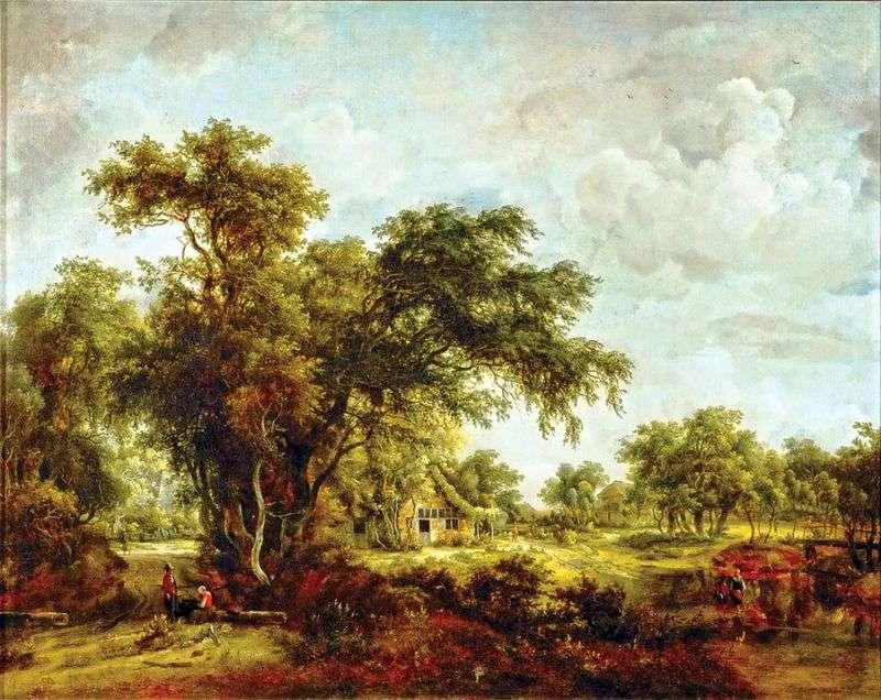 Krajobraz rolniczy   Meindert Hobbema