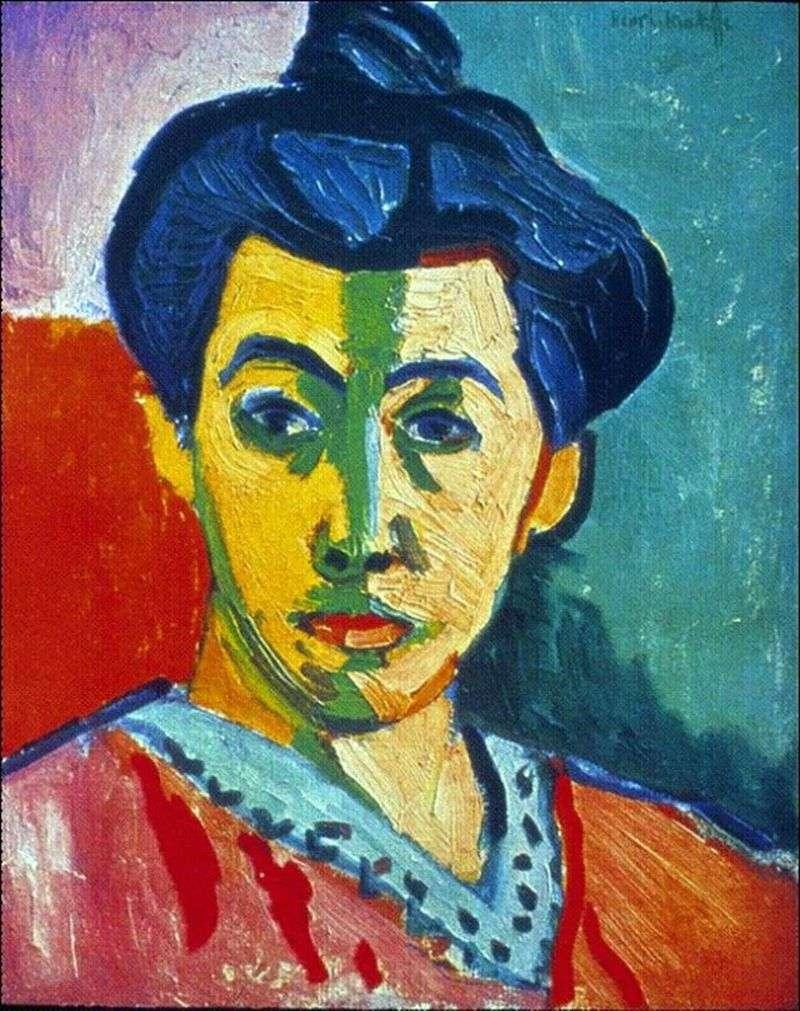 Madame Matisse (Zielony pasek)   Henri Matisse