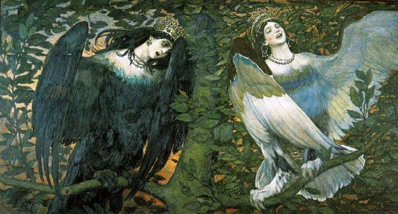 Sirin i Alkonost. Song of Joy and Sorrow   V. M. Vasnetsov