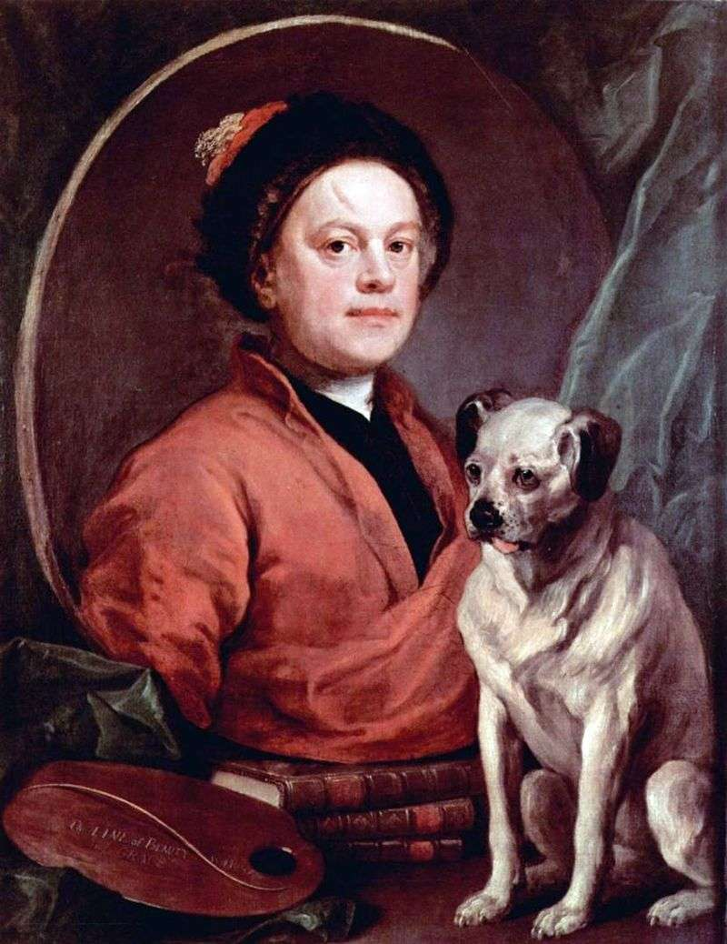 Autoportret z psem   William Hogarth