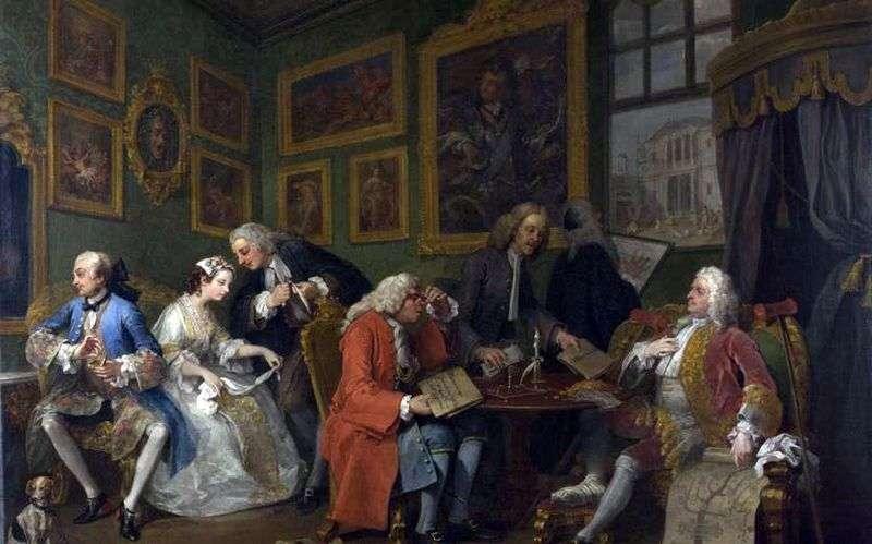 Umowa małżeńska   William Hogarth