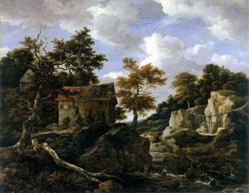 Zachód słońca krajobraz   Jacob van Ruisdal