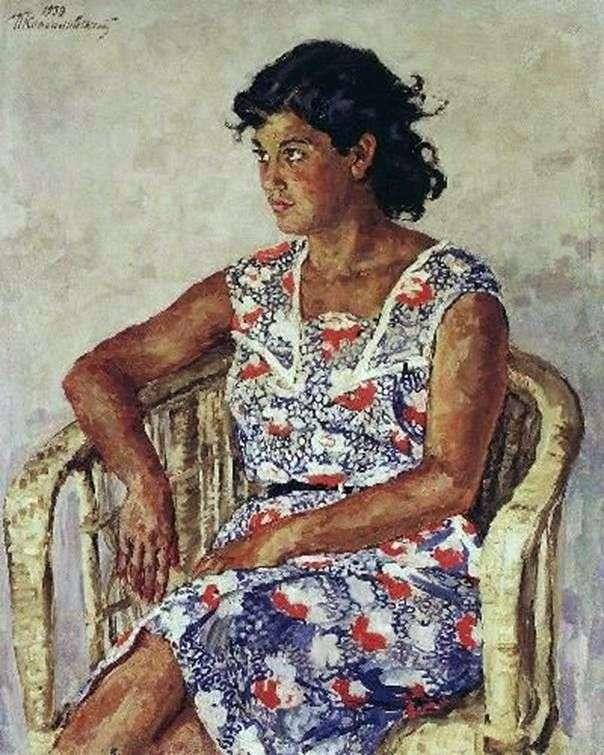 Portret Julii Perekacho   Peter Konchalovsky