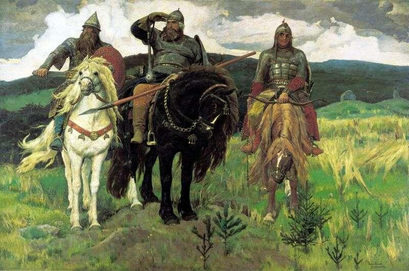 Trzej bohaterowie   Victor Vasnetsov
