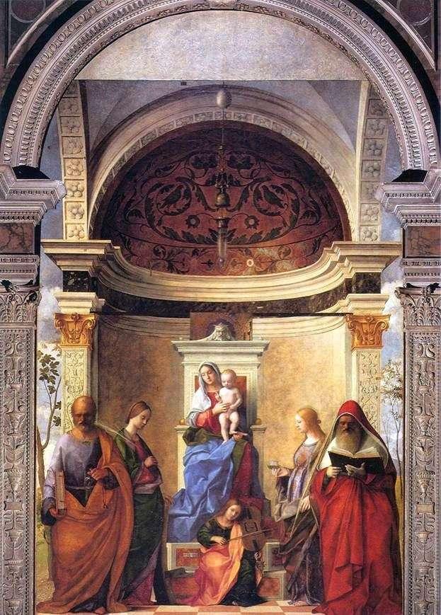 Madonna i dziecko ze świętymi   Giovanni Bellini