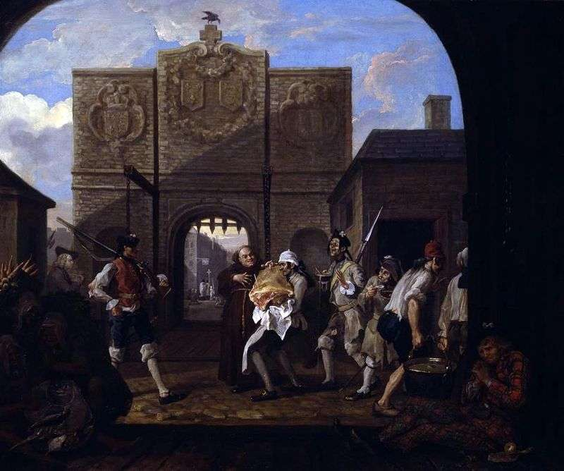 Gate Calais, czyli Oh, pieczona wołowina ze starej Anglii   William Hogarth