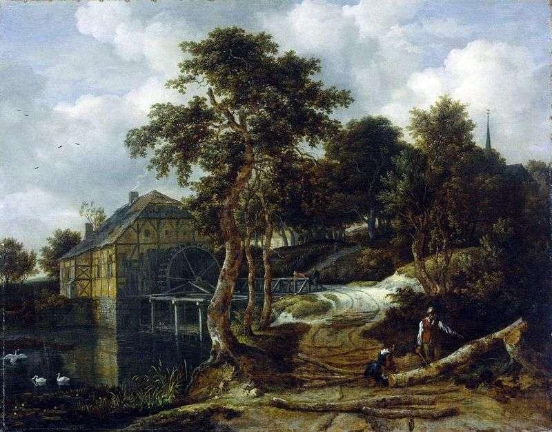 Pejzaż z młynem   Jacob van Ruisdal