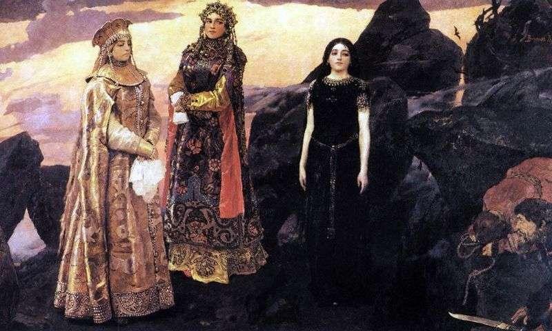Trzy księżniczki podziemi   Victor Vasnetsov