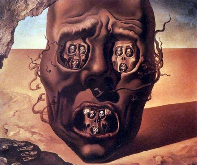 Face of the War   Salvador Dali
