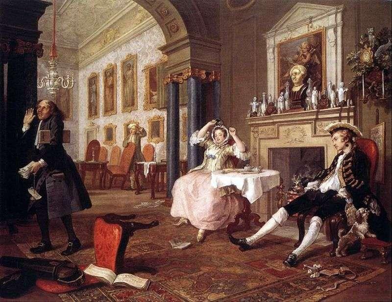 Krótko po ślubie   William Hogarth