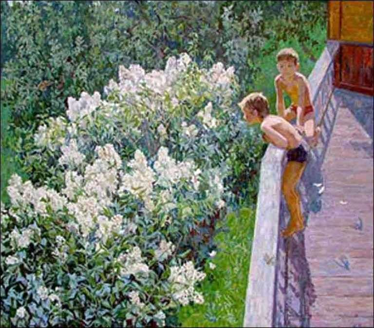 Letni dzień Kwiaty bzu   Maya Kopyttseva