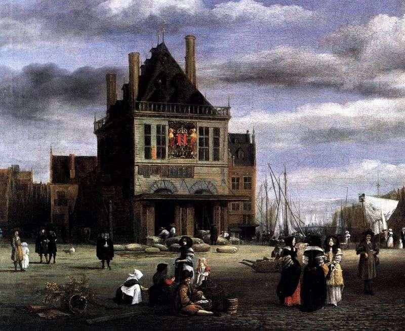 Plac w Amsterdamie   Jacob van Ruisdal