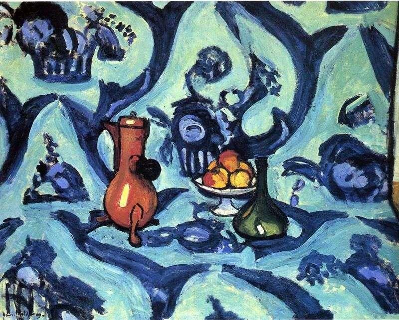Martwa natura z niebieskim obrusem   Henri Matisse