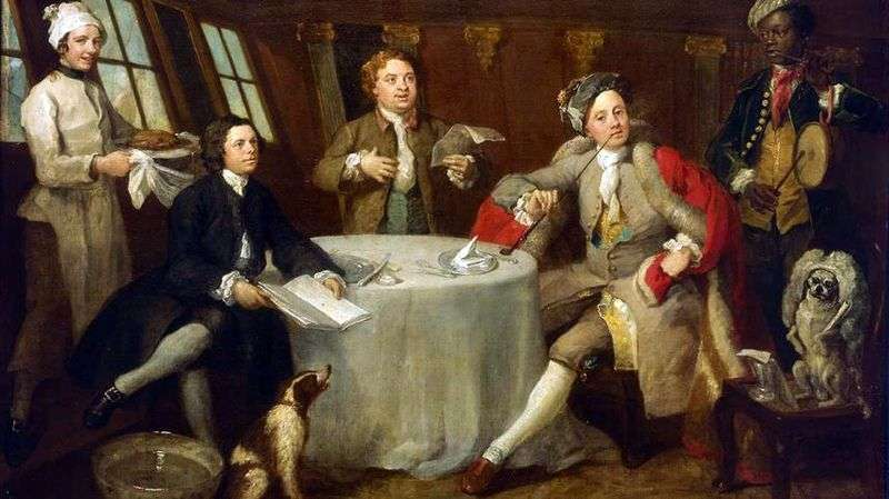 Kapitan Lord George Graham w swojej kabinie   William Hogarth
