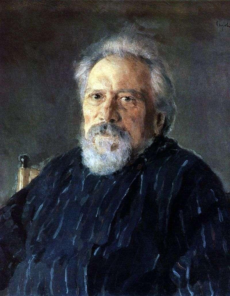Portret N. S. Leskov   Valentin Serov
