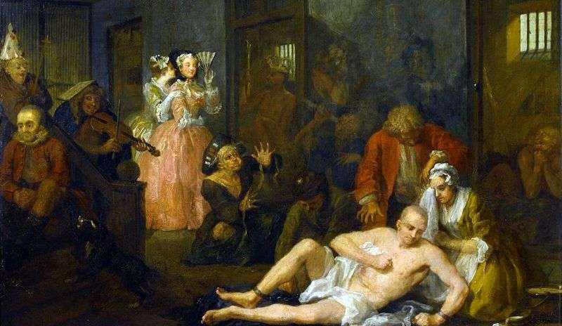 Kariera Mota. Moth in Bedlam   William Hogarth