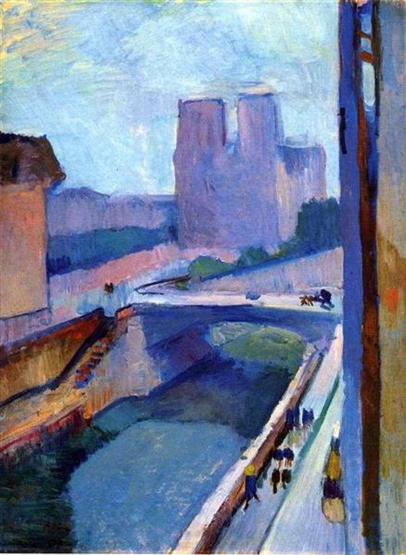 Notre Dame w nocy   Henri Matisse