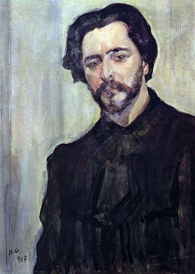 Portret pisarza Leonida Andrieja   Valentina Serowa