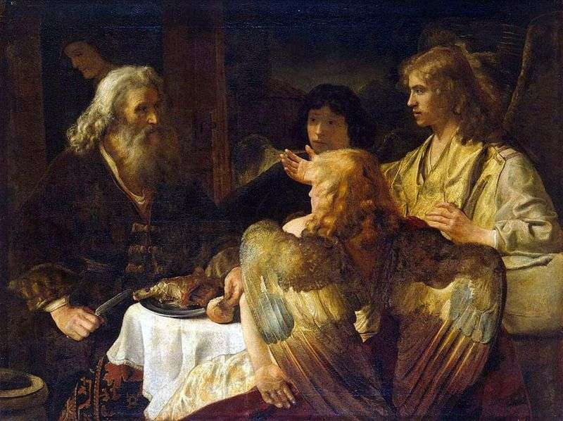 Abraham i trzej aniołowie   Rembrandt Harmens Van Rhine