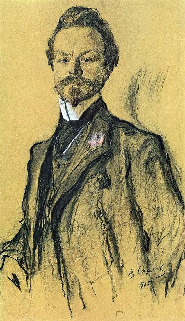 Portret poety K. Balmont   Valentin Serov