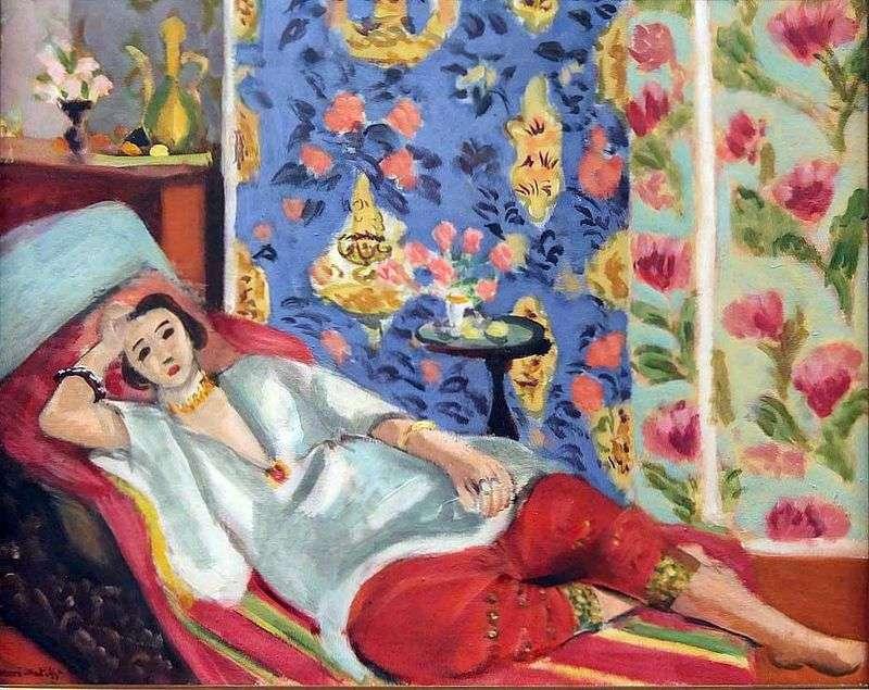 Odalisque w czerwonym shalvarah   Henri Matisse