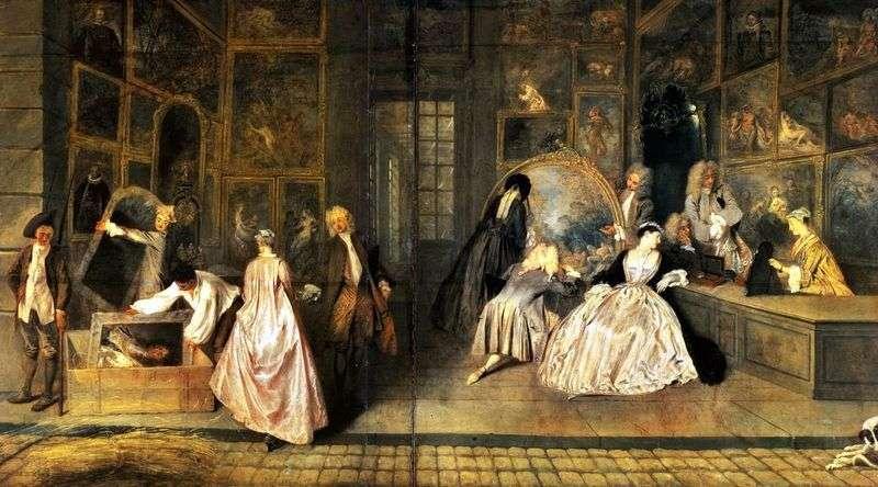 Szyld sklepowy Germain   Jean Antoine Watteau