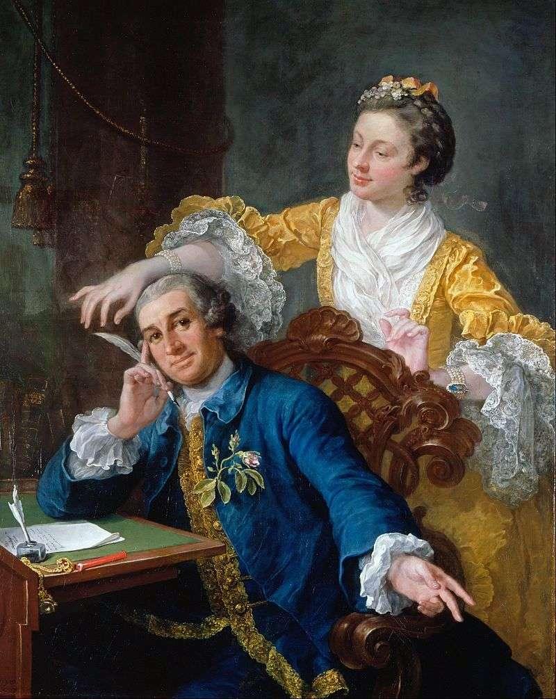 Portret aktora Garricka i jego żony   Williama Hogartha